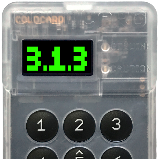 Coldcard firmware update: 3.1.3