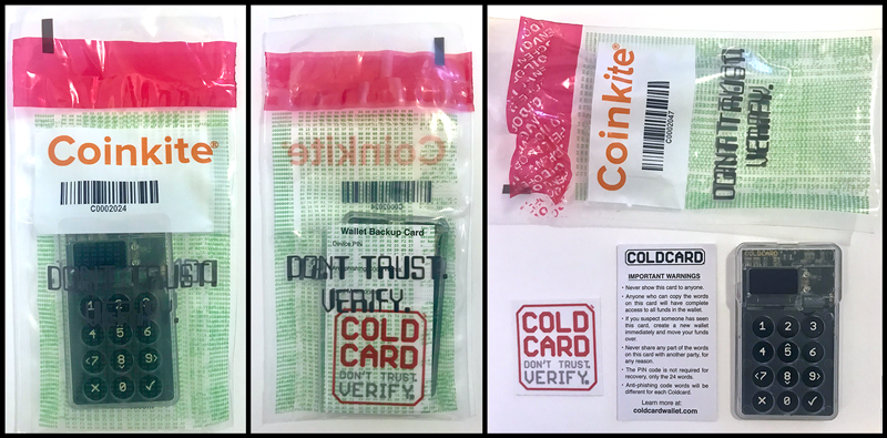 Coldcard in its bag