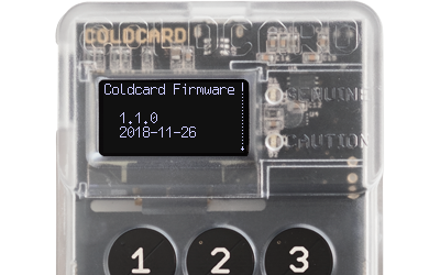 Coldcard Firmware 1.1.0