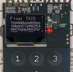 Example TXID screen